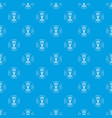 crayfish pattern seamless blue vector image