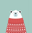 cute winter card with bear vector image vector image