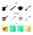 design of kitchen and cook symbol set of vector image vector image
