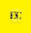 ec letter logo with vintage grundge drawing vector image vector image