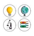 education concept elements icon vector image vector image
