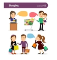 Family shopping people vector image vector image