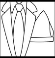 figure elegant suit with tie icon vector image vector image