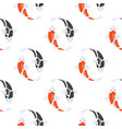 flat style seamless pattern with japanese koi fish vector image vector image