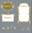 floral frames sepia wedding valentines card vector image vector image