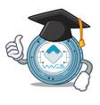 graduation waves coin character cartoon vector image vector image