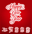 happy new year lettering card in multilanguage vector image