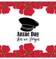 hat soldier to anzac day war vector image