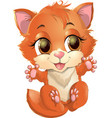 kitty princess with decorations vector image vector image