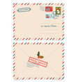 letter to santa claus with stamps and postage vector image