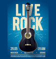live classic rock music poster template vector image vector image