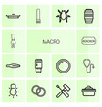macro icons vector image vector image