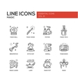 Magic - line design icons set vector image