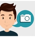 man camera photo images vector image