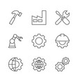 manufacturing outline icons vector image
