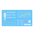 medical device healthy report diagnostic vector image vector image