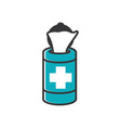 medical tissue icon design template isolated vector image