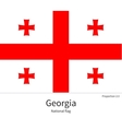 National flag of Georgia with correct proportions vector image vector image