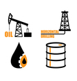 Oil industry icons vector image