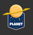 planet saturn design black background image vector image vector image