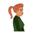 portrait character woman business worker vector image vector image