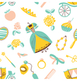 Princess accessory seamless pattern vector image