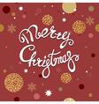 red christmas postcard vector image vector image