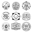 School and science vintage badges set vector image