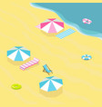 sea beach isometric vector image vector image