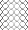 seamless pattern of chain fence vector image vector image