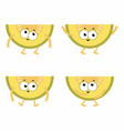 set cartoon melons vector image vector image
