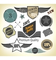 Set of Premium Quality and Guarantee vector image
