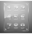 Set of transparent glass numbers vector image vector image