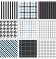 set seamless pattern such as pinstripe vector image vector image