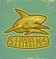 shark vintage vector image vector image
