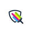 shield paint logo icon design vector image vector image