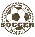soccer label vector image vector image