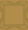 square golden frame on golden background vector image