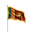sri lanka flag on a white vector image