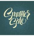 Summer sale Original handwritten calligraphy vector image vector image