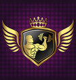 symbol for gym golden color vector image vector image