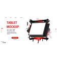 tablet mockup and abstract web page template vector image vector image