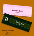 thank you card and gift voucher eps10 vector image vector image