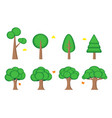 tree symbol icon element web game presentation vector image