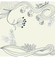 vintage background with floral element vector image vector image