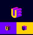 volume u e logo web digital space web icon vector image vector image