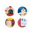 voting set icons vector image