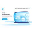 web development concept landing page vector image vector image