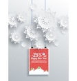 Winter Christmas sale design elements vector image vector image