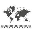 World map icons 6 vector image vector image